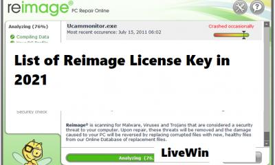 List of Reimage License Key in 2021